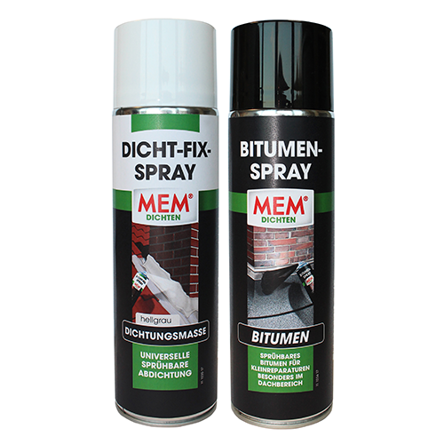 MEM Dicht-Fix-Spray und MEM Bitumen-Spray