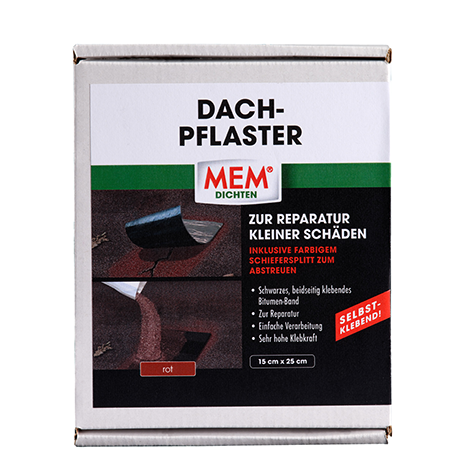 15 cm x 25 cm/100g Schiefersplitt rot