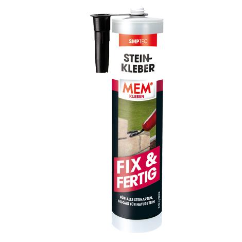 Turbo MEM Stein-Kleber Fix & Fertig | Verklebung von Steinen | MEM ZD52